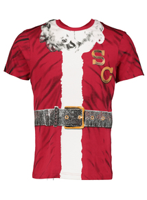 Christmas Santa Claus Crew Neck T-Shirt