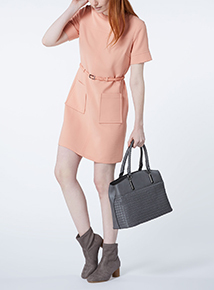 Pink Ponte Dress