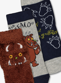 Gruffalo Multicoloured Socks 3 Pack (3-6.5)
