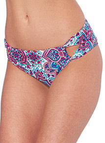 Paisley Cut Out Bikini Briefs