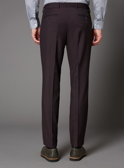 Burgundy Slim Fit Stretch Suit Trouser