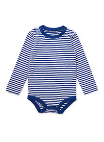 Grey Stripe Print Dungaree and Bodysuit Set (0-24 months)