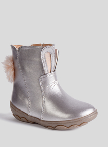 Silver Bunny Bumper Boots (4 infant - 12 child)