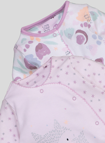 Multicoloured Fox Sleepsuits 2 Pack (Newborn - 24 Months)