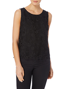 Gok Black Lace Shell Top