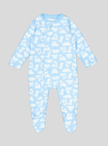 Blue Dinosaur Print All In One (Newborn-24 months)