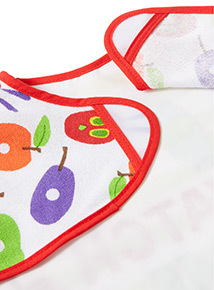 Multicoloured 'The Very Hungry Caterpillar' Long Sleeve Bib