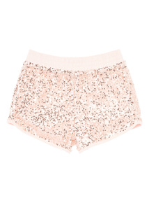 Girls Pink Sequin Shorts (3 - 12 years)