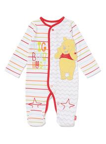 Multicoloured Disney Winnie The Pooh Sleepsuit (0-12 months)