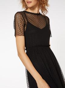 Sparkle Mesh Layer Dress