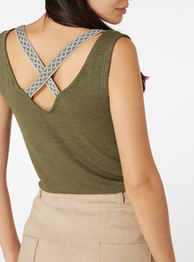 Green Knitted Vest