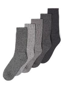 5 Pack Monochrome Stay Fresh Cushioned Sole Socks