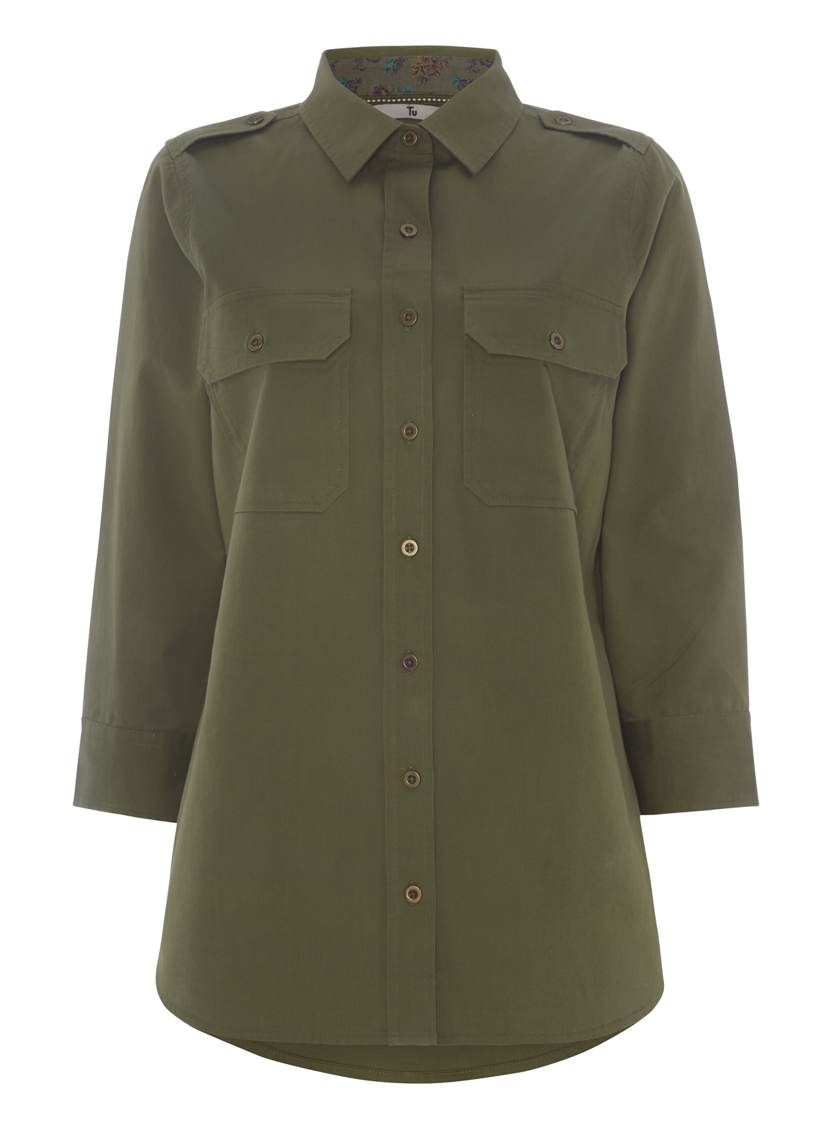 Womens Khaki Utility Shirt Jacket | Tu clothing