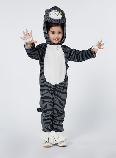Fancy Dress Kids Grey Mog The Cat Costume 3 12 Years