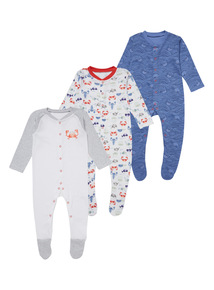 Little Nipper Sleepsuits 3 Pack (0 - 24 months)