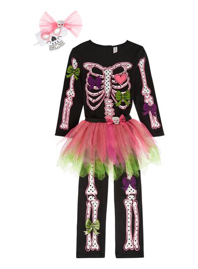 Skeleton Outfit Halloween.Sku Skeleton With Tutu Black