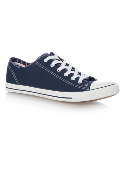 Five Eyelet Navy Trainer