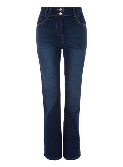 50f87892b017c Womens Blue Denim Bootcut Jeans