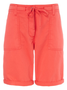 Red Utility Shorts
