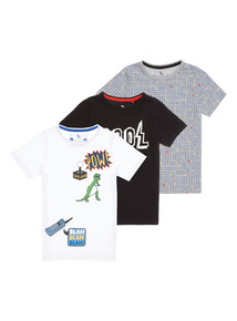 Multicoloured Printed Tees 3 Pack (3 - 12 years)