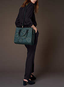 Premium Dark Green English Rose Bag