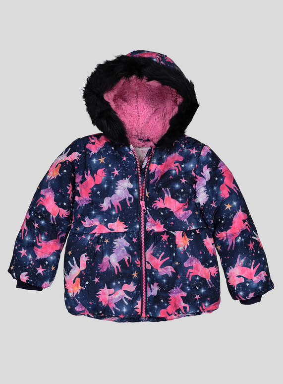 c9bd01a1 Kids Navy Unicorn Puffer Coat With Hood (9 months - 6 years) | Tu clothing