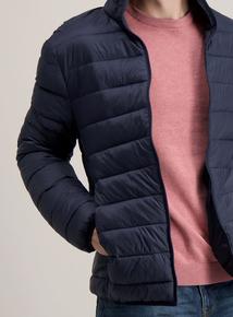 Navy Thermolite Lightweight Puffer Jacket