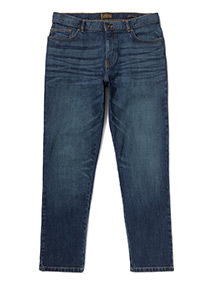 Mid Wash Slim Jeans With Stretch