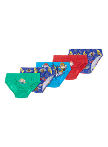 5 Pack Multicoloured Paw Patrol Briefs (2-6 years)