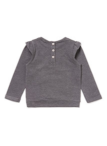 Charcoal Cat Sweat Top (0-24 months)