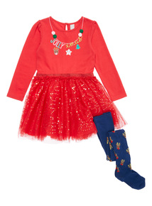 Red Christmas Tutu Dress (9 months - 5 years)