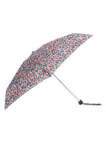 Multicoloured Animal Print Mini Umbrella