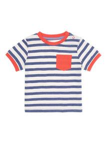 Navy Stripe Tee (0-24 months)