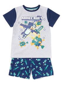 Grey Minecraft Pyjamas (3-12 years)