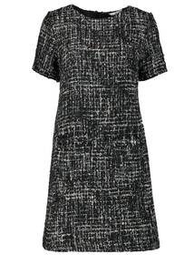 Black Sparkly Bouclé Dress