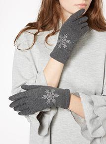 Snowflake Embellished Glove
