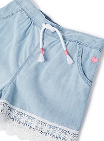 Denim Chambray Shorts (9 months-6years)