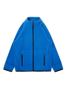 Boys Blue Zip Through Fleece (3-12 Years)