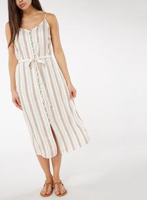 Multicoloured Stripe Camisole Dress