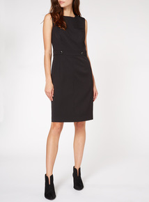 Black Sleeveless Smart Dress
