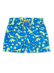 Green Dinosaur Print Swim Shorts (3-14 years)
