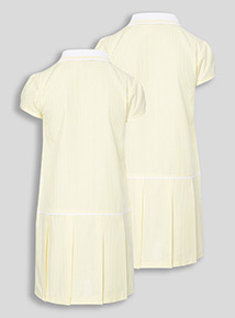 2 Pack Yellow Sporty Gingham Dresses (3-12 years)