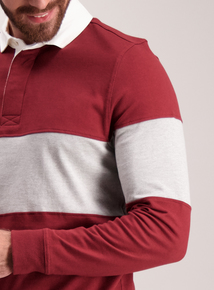 Burgundy & Grey Rugby Shirt