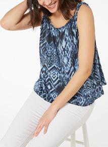 Multicoloured Animal Print Vest Top