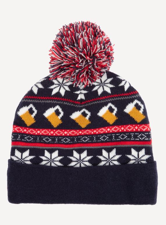 Menswear Christmas Multicoloured Cheers Pom-Pom Beanie Hat  5cdbe19606f