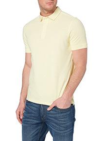 Online Exclusive Yellow Pique Polo Shirt