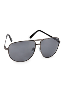 Gunmetal Aviator Sunglasses
