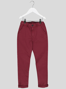Burgundy Chinos With Stretch (3-14 years)