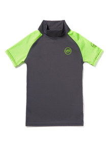 Unisex Green and Grey Rash Vest (1-12 years)