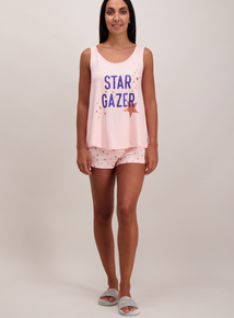 Pink 'Star Gazer' Shorty Pyjamas
